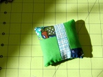 Green and blue pieced block